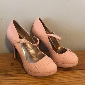 Peach Chiffon Heels